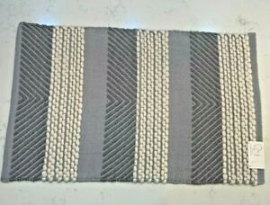 """Project 62 Gray and White Woven Cotton Wool Accent Rug - 24"""" x 36"""""""