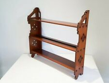 Arts & Crafts mahogany hanging wall shelves pierced detail late 19th century
