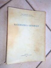 MATEMATICA GENERALE Antonio Colucci Libreria Liguori 1959 libro di scritto da