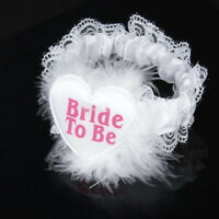 Gift Party White Wedding Bachelorette Fashion Garter Bride To Be Lace Badge