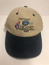 Ligand Pharmaceuticals Corporate Earthday Cap - Cotton Beige Hat - Strapback