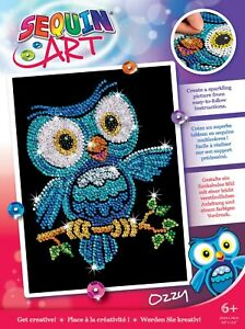 Sequin Art 1403 Ozzy Owl Craft Project From The Red Range