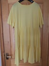 Marks and Spencer casual  summer day dress Size 22 Yellow tiered