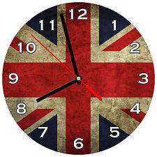 "8"" WALL CLOCK Union Jack 1 Flag England English British Queen United Kingdom UK"