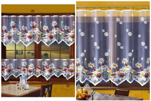 CAFE NET CURTAIN-LADYBIRD MULTI COLOUR - SOLD BY METERS