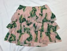 THE WEBSTER MIAMI Womens Skirt X Small XS Pink Flamingo Hawaiian FLORAL