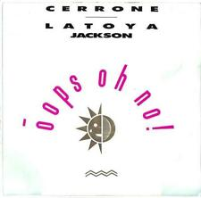 "La Toya Jackson & Cerrone - Oops Oh No! - 7"" Record Single"