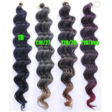 "18"" Synthetic Deep Wave Crochet Bulk Braiding Hair Extension Crochet Braids Hair"
