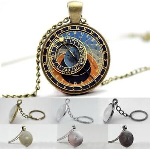 Astronomical Clock - Photo Glass Dome Necklace, Pendant, Keyring