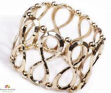 American-Bohemian Infinite Gold Stretchable-Collapsible Bracelet-Bangle (FSJB96)