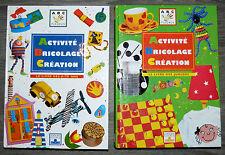 ETAT NEUF LOT de 2 livres FLEURUS ACTIVITE BRICOLAGE CREATION 6-10 ans & junior
