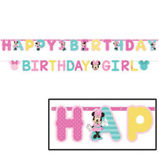 Disney Minnie Mouse 1st Happy Birthday Party Fun To be One Jumbo Banner