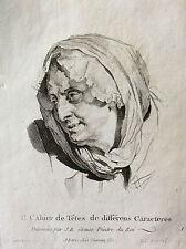 Jean Baptiste Greuze Tête de vieille femme Etude mère bien aimée INGOUF XVIII