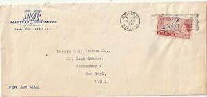 1961 Bermuda oversize cover sent from Hamilton to Rochester,New York USA