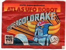 Atlas UFO Robot: SuperGoldrake BUSTINA DI FIGURINE piena e SIGILLATA del 1979