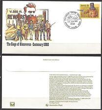 Australia 1980 NED KELLY - SIEGE OF GLENROWAN ANNIVERSARY PSE (#027) FDC