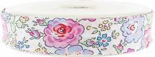 Biais Liberty New Felicite Fleurs Roses  - 20mm X 1 Mètre