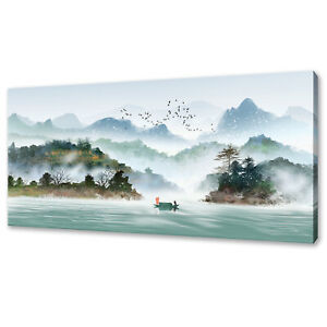 TRADITIONAL INK PAINTING STYLE CHINESE MOUNTAINS CANVAS PRINT WALL ART PICTURE
