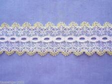 Lemon/White Coathanger Lace #2 (x 5 metres)
