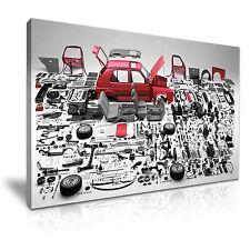 VW Golf rompiendo piezas de LONA pared arte Foto impresión 76x50cm Oferta Especial