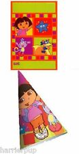 Dora the Explorer & Boots Birthday Party Set Hats+Favor Bags Plus Free Tattoos