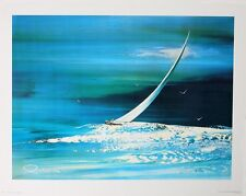 "SAIL BOAT Wall Decor; 12"" x 16"" Les Lambson Art Vintage Collectible Professional"