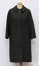 pur vintage manteau NINA RICCI BOUTIQUE  gris anthracite en laine t 38