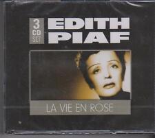 EDITH PIAF - LA VIE EN ROSE on 3 CD'S - NEW -