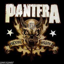 PANTERA cd lgo F#CKING HOSTILE SKULL Official SHIRT XXL 2X New vulgar display
