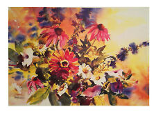 Summer Mix open Edition print by M.Roseman print is new and has never been framd