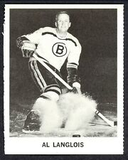 1965 COCA-COLA COKE AL LANGLOIS EX-NM BOSTON BRUINS  HOCKEY CARD