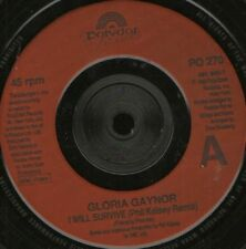 """GLORIA GAYNOR i will survive phil kelsey remix 7"""" WS EX/ uk"""