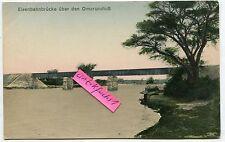 Postcard 1910: German South-West Africa, Railway Bridge over omarurufluß