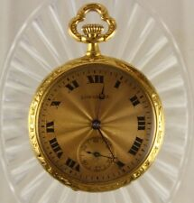 Antique 1905 Longines 18K Solid Gold 30mm Ladies Pocket Watch 17J 21grms lot.138