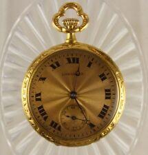 Antique 1905 Longines 18K Solid Gold 30mm Ladies Pocket Watch 17J 21grms lot.138