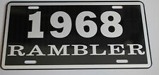 METAL LICENSE PLATE 1968 68 RAMBLER NASH AMC AMERICAN MOTORS 660 440