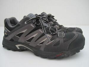 Mens US 10.5 Salomon Eskape Gore-tex GTX Contagrip gray black hiking trail shoes