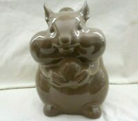 "New Old Stock Threshold Stoneware Chipmunk Brown Cookie Jar 8"" Tall w2s13"
