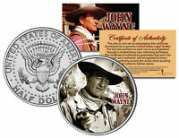 JOHN WAYNE - MOVIE *The Comancheros* JFK Kennedy Half Dollar US Coin *LICENSED*