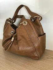 Michael Kors, Caramel Leather Drawstring Bag, Ludlow Style, Leather Tote
