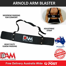 DAM WEIGHT LIFTING BODYBUILDING BICEP ARM BLASTER FITNESS EZ BAR CURL ARMS