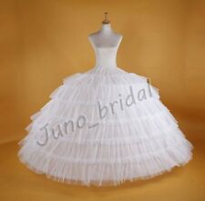 WHITE 7-HOOP 7 Layer Tulle WEDDING BRIDAL PROM PETTICOAT UNDERSKIRT CRINOLINE