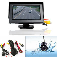 "4.3"" Car SUV Reverse Parking LCD Display Monitor Rearview IR Night Vision Camera"