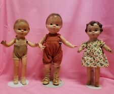 "13"" Composition Effanbee Patsy Doll & Two composition Unmarked  Friend Dolls"