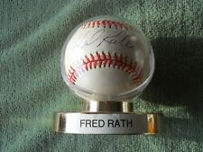 FRED RATH AUTOGRAPHED SIGNED BASEBALL Colorado Rockies Pitcher