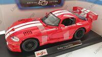 MAISTO 1:18 Diecast Model Car Dodge Viper GT2 in Red
