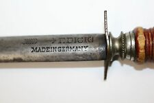Antique F. DICK Reversed Arrow Pre War Honing Rod Knife Sharpening Stick Butcher
