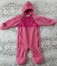 The North Face Baby Girl Pink Fleece Bunting Snowsuit Jacket Explorers Gear 6-12