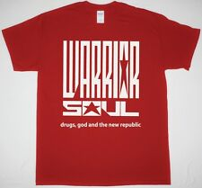 WARRIOR SOUL DRUGS GOD AND THE NEW REPUBLIC RED T SHIRT THE ALMIGHTY THUNDER