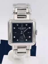 Orologio Locman 210 Acciaio  Ref210PSP/520 30x30mm Nero Scontatissimo Nuovo